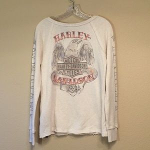 Harley Davidson French terry soft shirt NWT